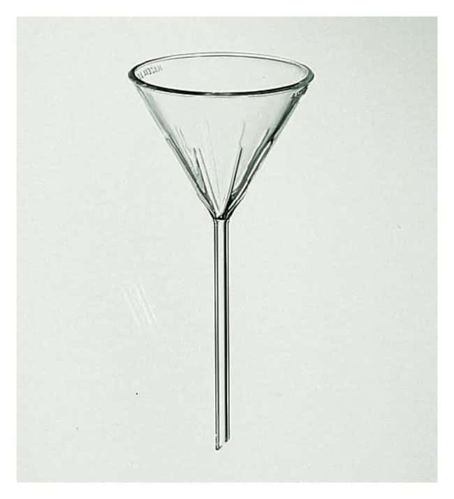 PYREX60 Angle Fluted Funnel with Long Stem 65 mm:Beakers, Bottles, Cylinders