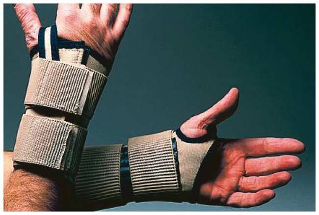 ImpactoElastic Wrist Restrainer with Stays Size: Small, Hand: left:Personal