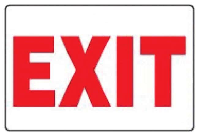 Accuform Signs Safety Signs: Exit:Gloves, Glasses and Safety:Facility Maintenance