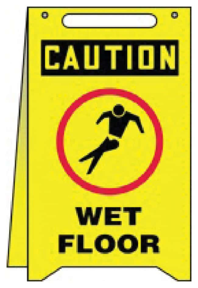 Accuform Signs Safety Fold-Up Signs: Wet Floor Size (H x W): 50.8 x 30.5cm