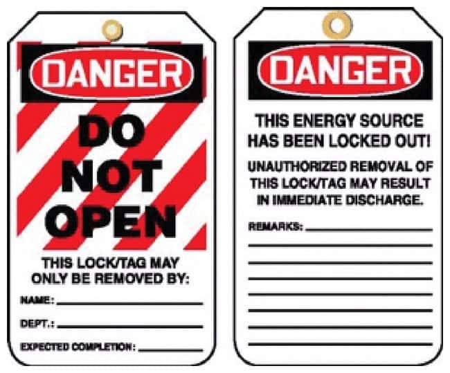 Accuform Signs Lockout Tags:Gloves, Glasses and Safety:Facility Maintenance