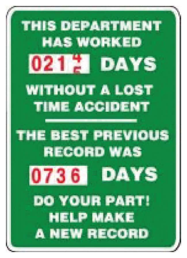 Accuform Signs Turn-A-Day Scoreboard Signs Department; 36 x 24 in.:Gloves,