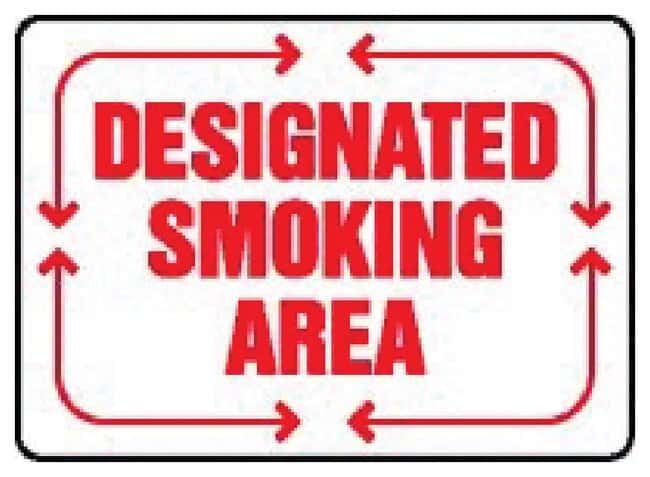 Accuform Signs No Smoking or Open Flames Within 50 Feet Sign: DESIGNATED