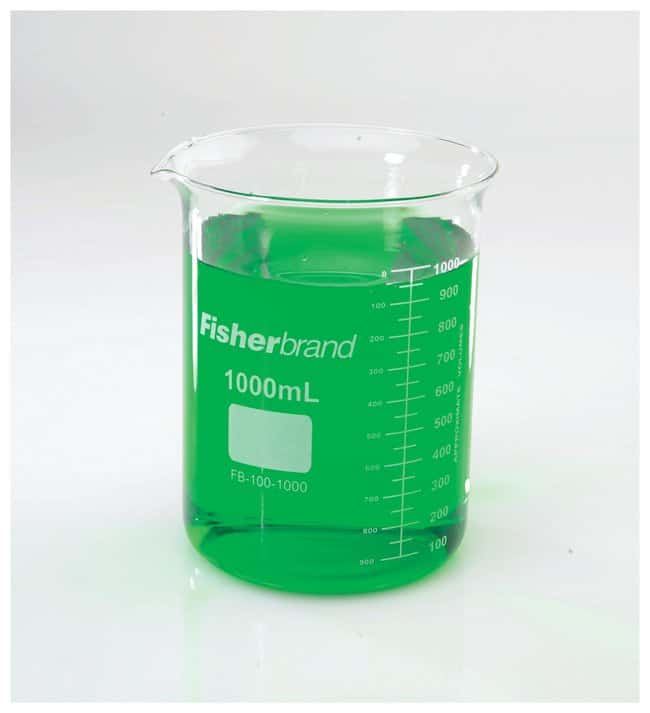 Fisherbrand™Reusable Glass Low-Form Griffin Beakers