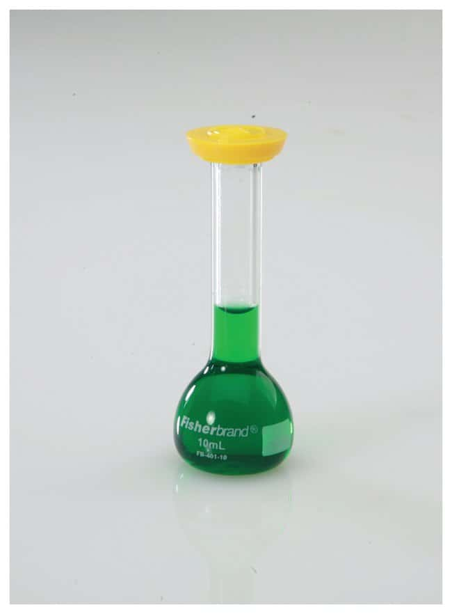 FisherbrandReusable Glass Class A Volumetric Flasks with Snap Caps Std.