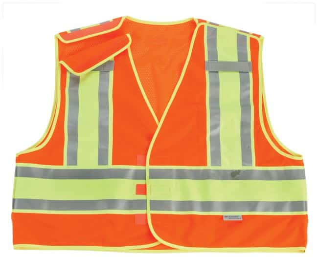 Ergodyne GloWear 8245PSV Type P Class 2 Public Safety Vest Orange; Large/X-Large:Gloves,