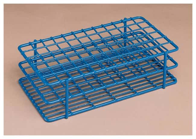 Bel-Art™ SP Scienceware™ Poxygrid™ Wire Test Tube Racks: 10-13mm Blue; Holds 60 tubes of 10-13mm in 6 x 10 array; Overall 175 x 114 x 64mm Bel-Art™ SP Scienceware™ Poxygrid™ Wire Test Tube Racks: 10-13mm