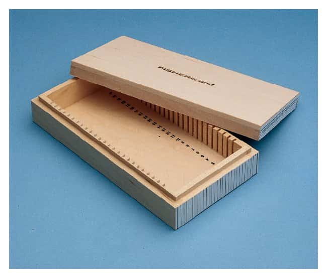 Fisherbrand Wooden Box for Microscope Slides:Microscopes, Slides and Coverslips:Microscope