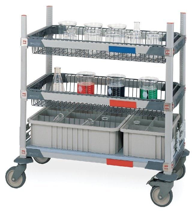 Metro™MetroMax i Basket Glassware Cart Two-basket Metro™MetroMax i Basket Glassware Cart