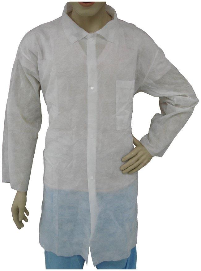 Tians Polypropylene Lab Coats Breast pocket; X-Large:Gloves, Glasses and