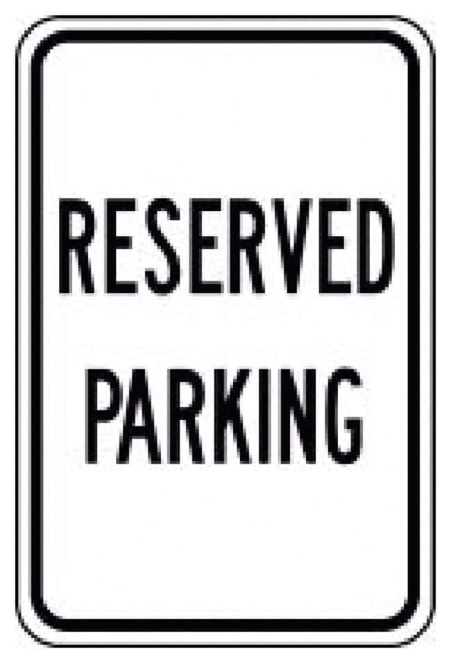 Accuform Signs Reserved Parking Sign Reserved Parking:Gloves, Glasses and