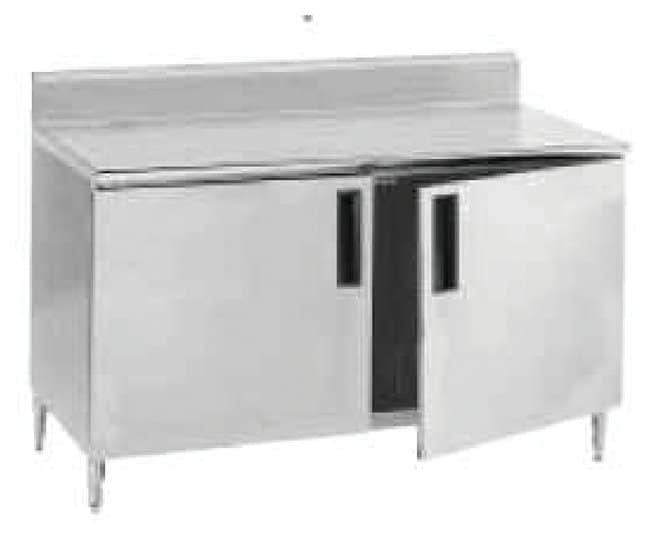 Advance TabcoSmart Fabrication Work Tables with Enclosed Bases 5in. Backsplash:Furniture:Desks