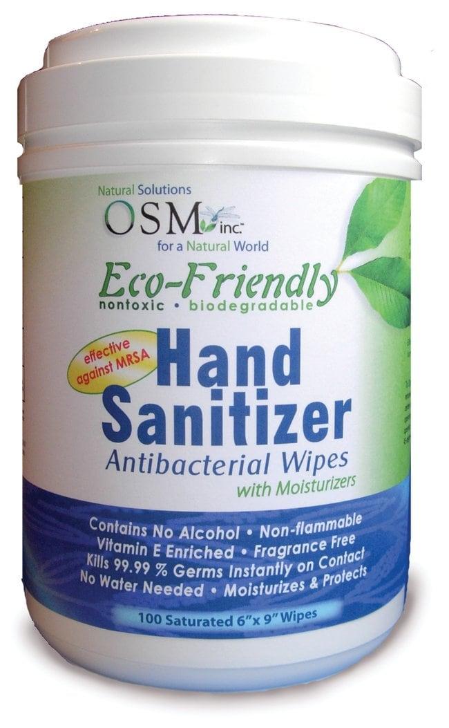 OSM Eco-Friendly Hand Sanitizer Wipes 100-Count Dispenser:Gloves, Glasses