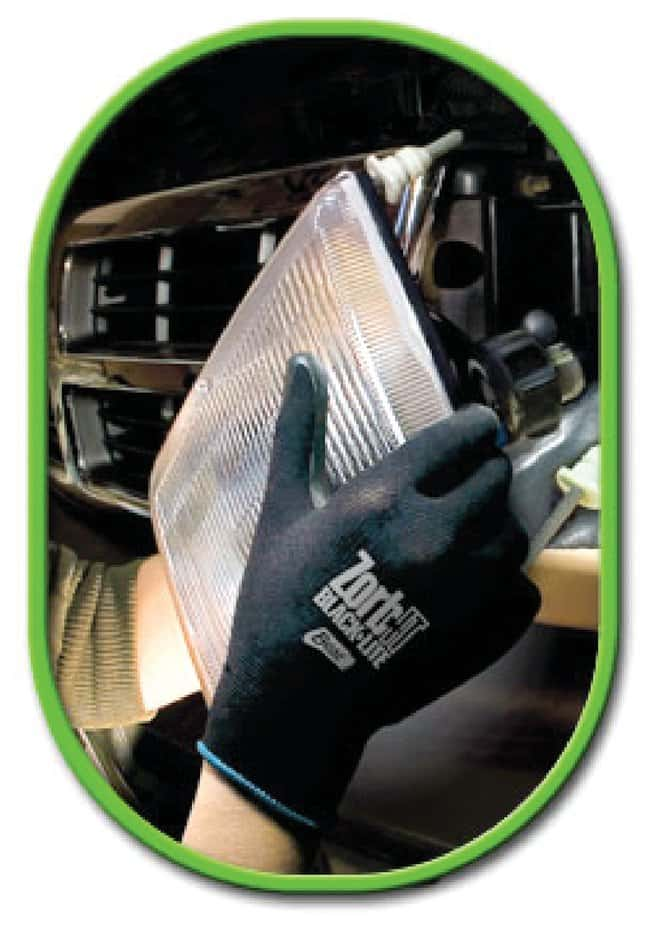 SHOWA Zorb-IT Blacklite Sponge Nitrile Flat Dipped Gloves  Medium:Gloves,