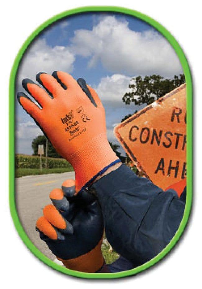 SHOWA Zorb-IT HV Sponge Nitrile Flat Dipped Gloves Large:Gloves, Glasses