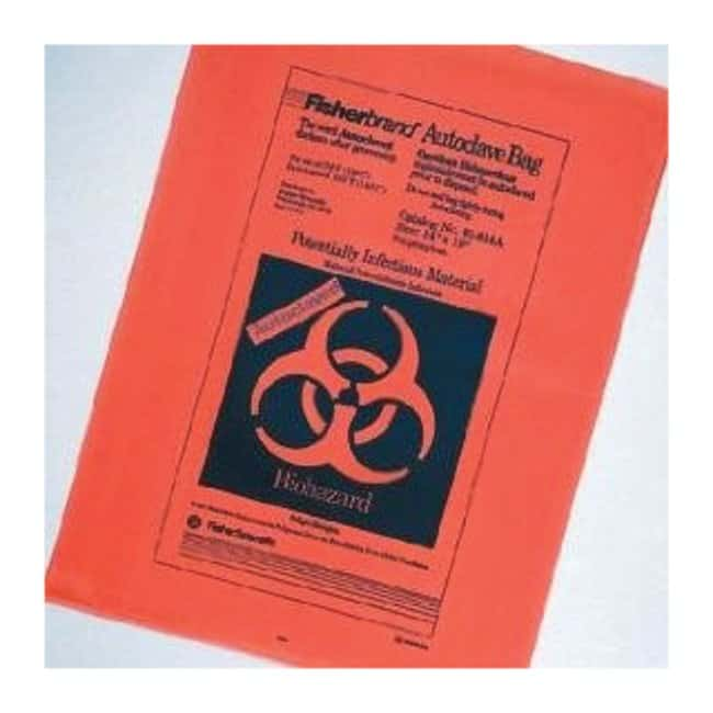 Fisherbrand Orange Autoclave Bags without Sterilization Indicator Size: