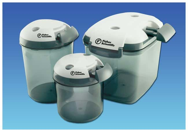 Fisherbrand Circular Bottom Desi-Vac Container Desiccators with Vacuum