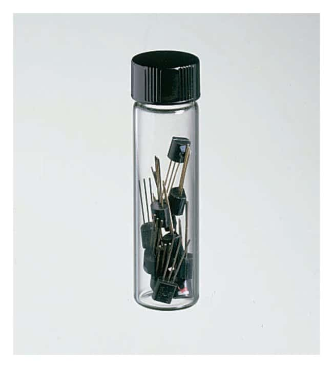 Fisherbrand™ Class B Clear Glass Threaded Vials with Closures Attached <img src=