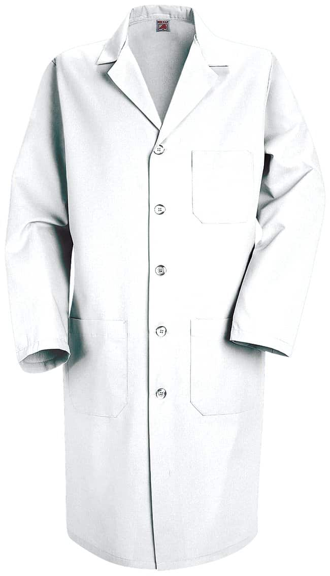 VF Workwear Red Kap Men's High-Performance White Lab Coats Regular; 50