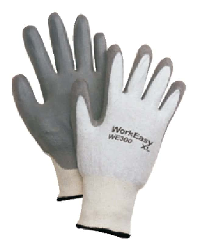 Honeywell WorkEasy General Purpose Gloves Nitrile; White w/gray coating;