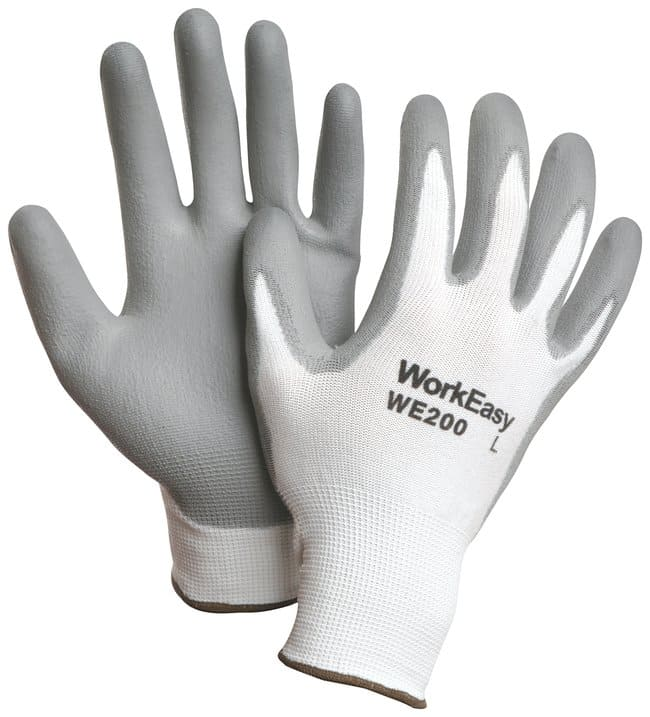 Honeywell WorkEasy Polyurethane Coated Gloves Polyurethane; White w/gray