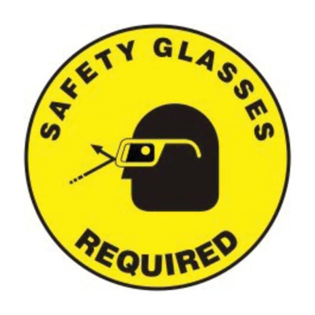 Accuform SignsSlip-Gard Round Floor Signs: Safety Glasses Required Safety