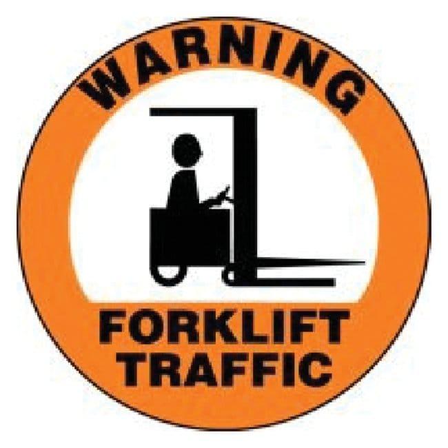 Accuform SignsSlip-Gard Round Floor Signs: Warning Forklift Traffic