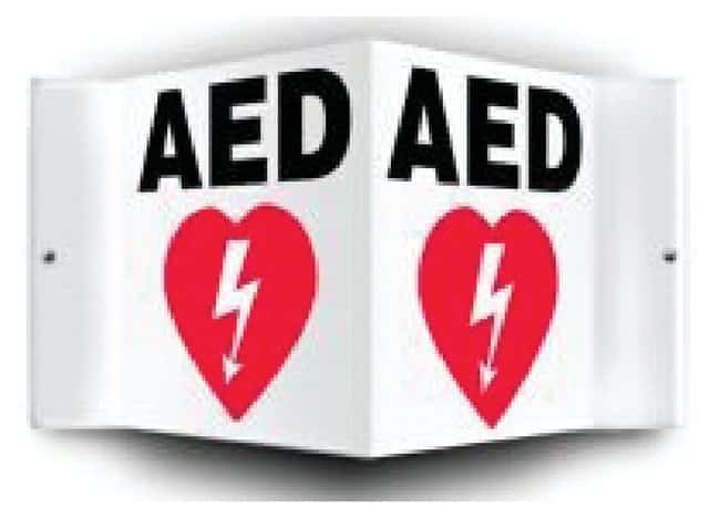 Accuform Signs Safety Projection Sign: AED