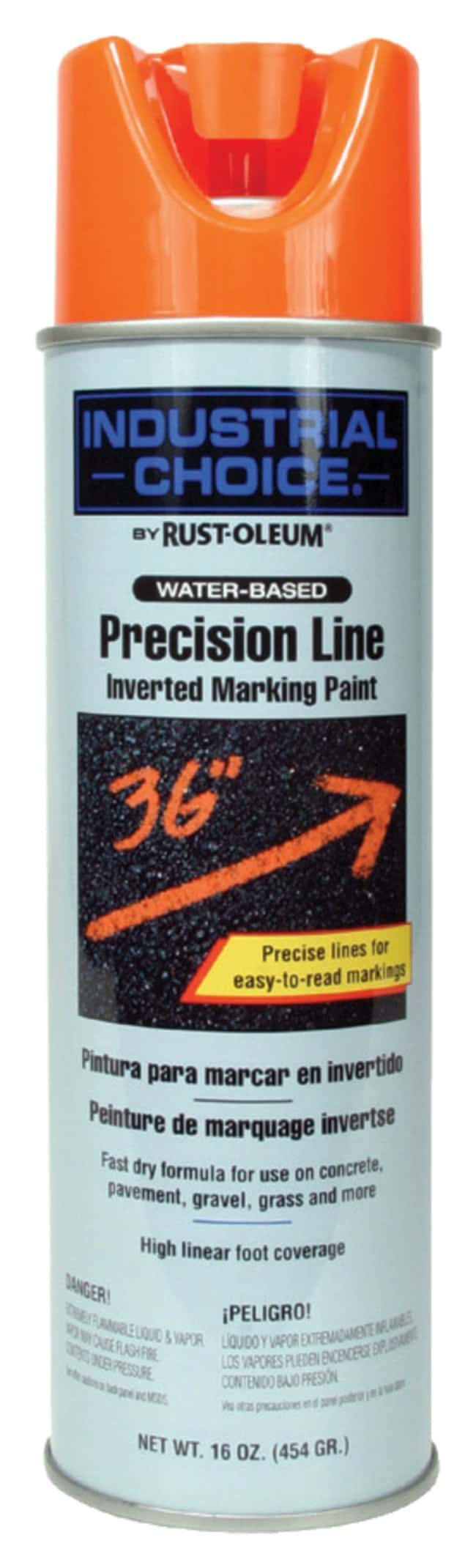 ORS Nasco Rust-Oleum Precision-Line Inverted Marking Paint Color: fluorescent