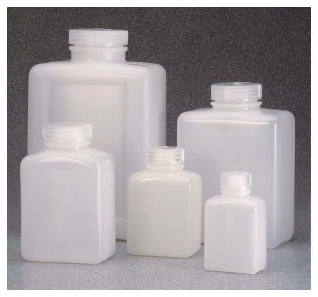 Thermo Scientific™Nalgene™ Rectangular HDPE Bottles with Closure: Bulk Pack: Bottles Bottles, Jars and Jugs
