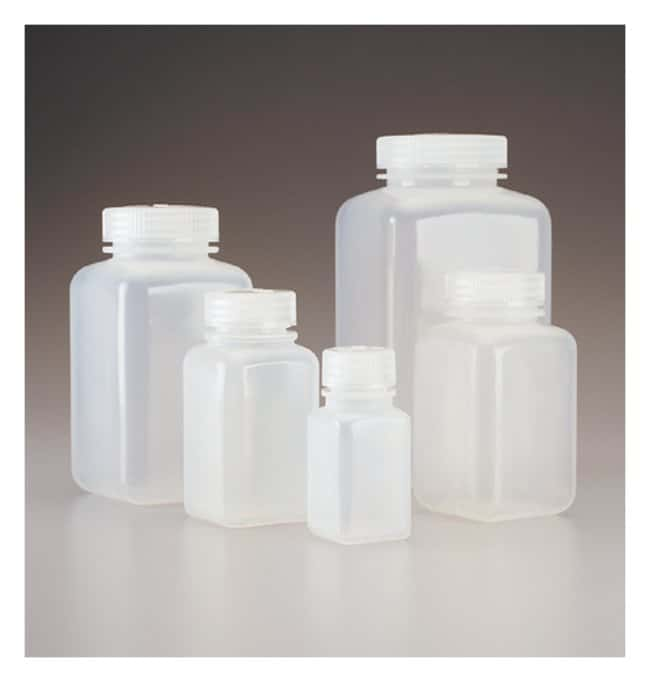 Thermo Scientific™ Nalgene™ Square Wide-Mouth PPCO Bottles with Closure: Bottles Bottles, Jars and Jugs