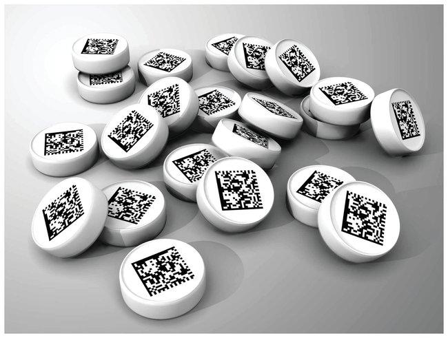 DWK Life SciencesWheaton™ 2D Data Matrix Bar Code Bottom Insert