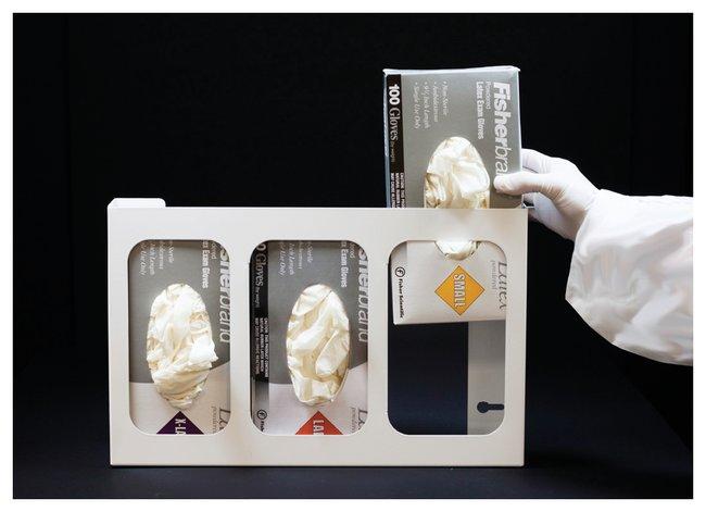 Dynamic Diagnostics Powder-Coated White Glove Box Holders Triple Glove