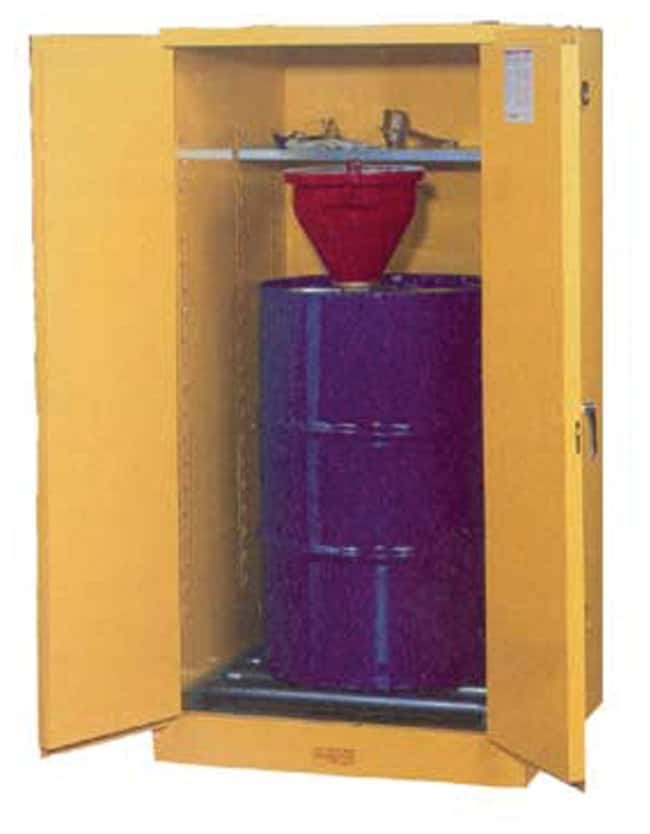 Justrite Indoor Drum Storage Cabinet :Gloves, Glasses and Safety:Hazardous
