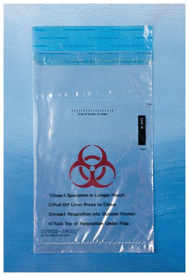 Minigrip SPECI-GARD Specimen Biohazard Transport Bags Press and Close liquid-tight
