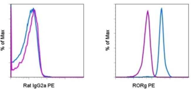 ROR gamma (t) Rat anti-Human, Mouse, Rhesus Monkey, PE, Clone: AFKJS-9, eBioscience™: Primary Antibodies - Alphabetical Primary Antibodies