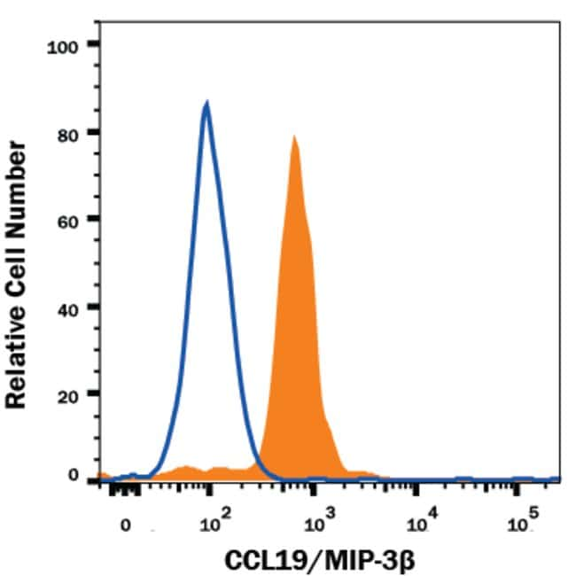 CCL19/MIP-3 beta Mouse anti-Human, Clone: 54909, RD Systems:Antibodies:Primary