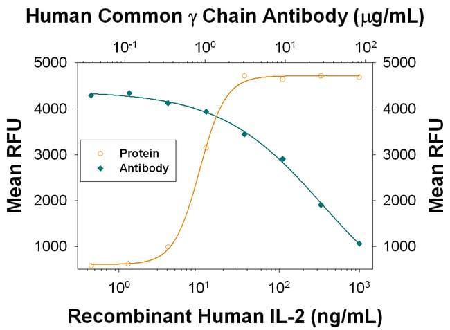 Common gamma Chain/IL-2 R gamma Mouse anti-Human, Clone: 38024, RD Systems:Antibodies:Primary