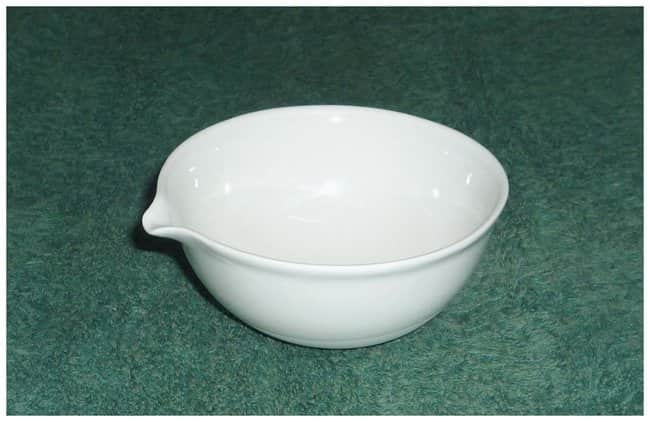 Fisherbrand™ Porcelain Evaporating Dishes Capacity: 250mL; Top OD: 115mm; Height: 45mm Fisherbrand™ Porcelain Evaporating Dishes