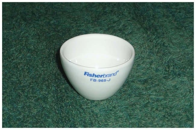 Fisherbrand™ Wide-Form Porcelain Crucibles 61 x 37 x 2.2mm; 35g; Case wt.: 3.2kg; Capac.: 50mL Fisherbrand™ Wide-Form Porcelain Crucibles