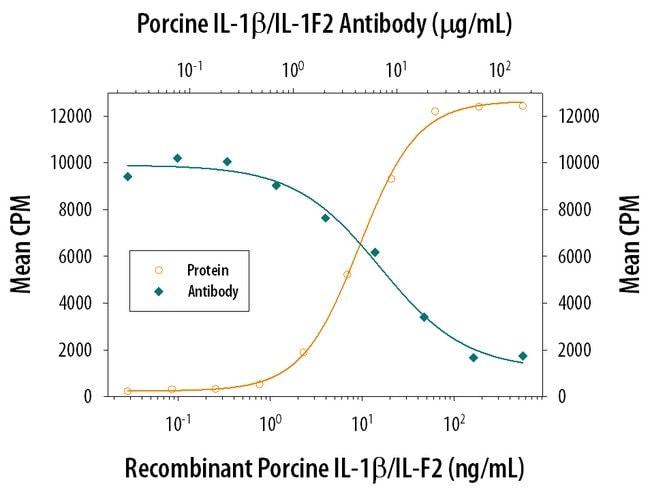IL-1 beta/IL-1F2 Mouse anti-Porcine, Clone: 77724, RD Systems:Antibodies:Primary