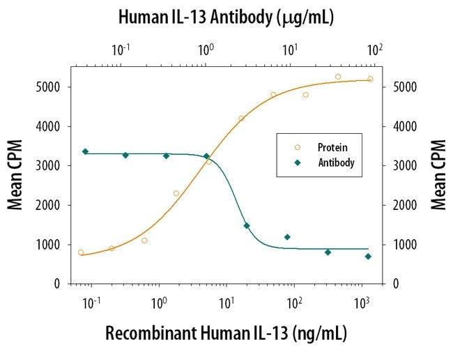 IL-13 Mouse anti-Human, Clone: 31606, RD Systems:Antibodies:Primary Antibodies