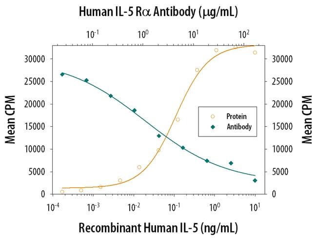 IL-5R alpha/CD125 Goat anti-Human, Polyclonal, R&D Systems 25µg; Unlabeled:Life
