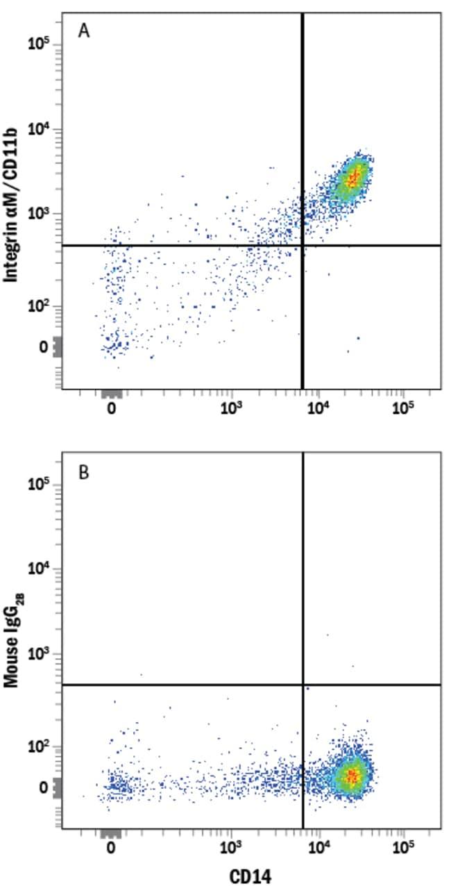anti-Integrin alpha M/CD11b, Alexa Fluor 700, Clone: 238446, RD Systems:Antibodies:Primary