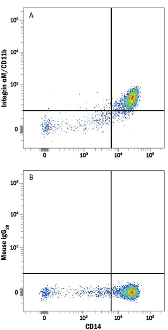 anti-Integrin alpha M/CD11b, Alexa Fluor 750, Clone: 238446, RD Systems:Antibodies:Primary