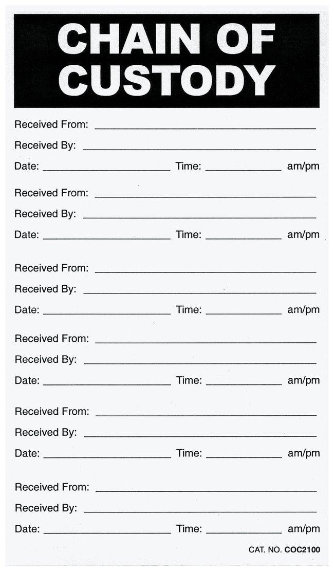 Chain of Custody Labels Chain of Custody Labels:Education Supplies