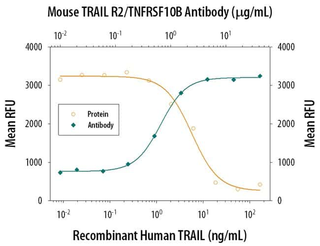 TRAILR2/TNFRSF10B Goat anti-Mouse, Polyclonal, R&D Systems 25µg; Unlabeled:Life