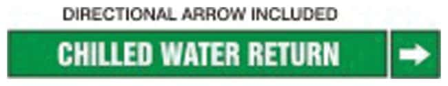 Accuform Signs Chilled Water Return Pipe Markers Self-stick; Mark: CHILLED