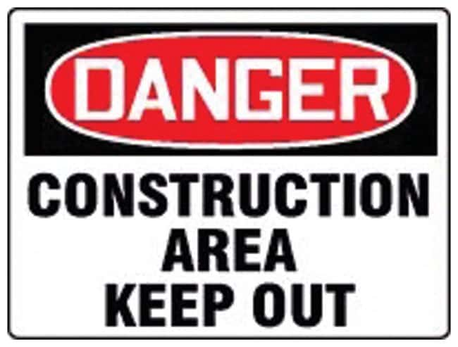 Accuform Signs Danger: Construction Area Keep Out Sign Plastic; Size: 61