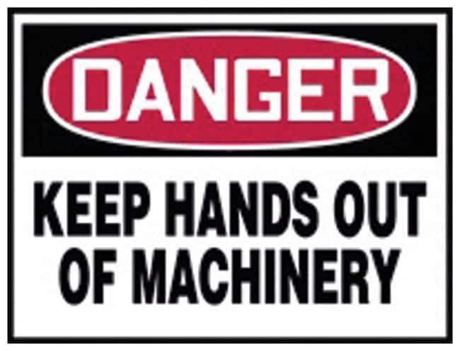 Accuform Signs Danger: Keep Hands Out of Machinery Sign Legend: Danger